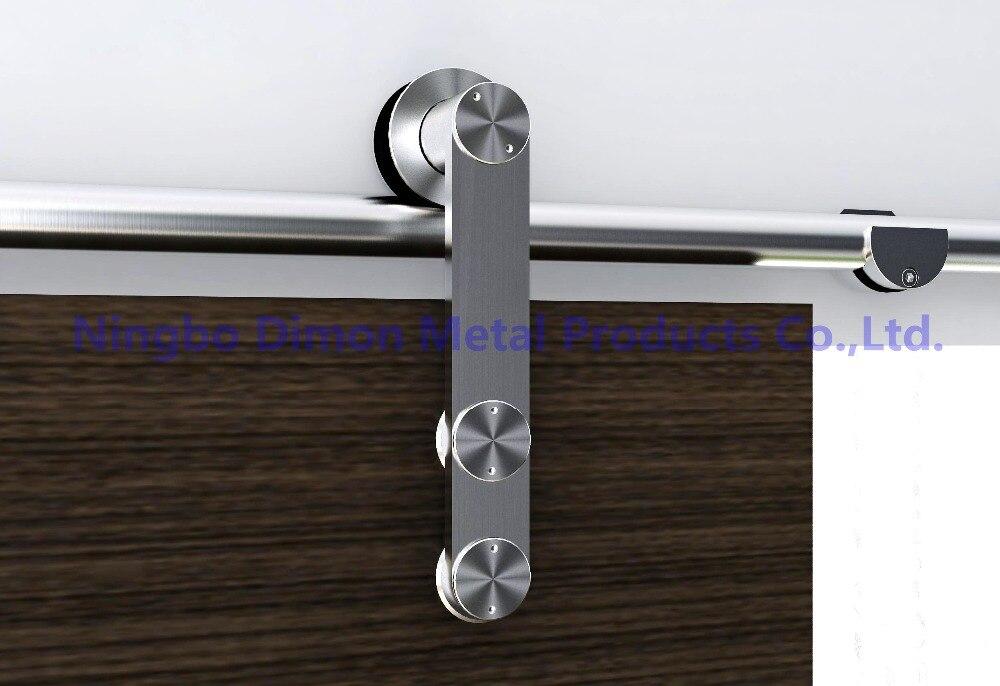Dimon adapté aux besoins du client SUS304 matériel de porte coulissante matériel de porte en bois matériel de porte coulissante en verre DM-SDS 7103 sans voie coulissante