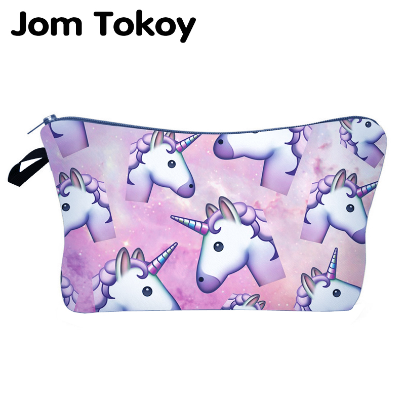 Jom Tokoy New Fashion Brand Cosmetic Bags Heat Transfer Printing Women Travel Makeup Bag