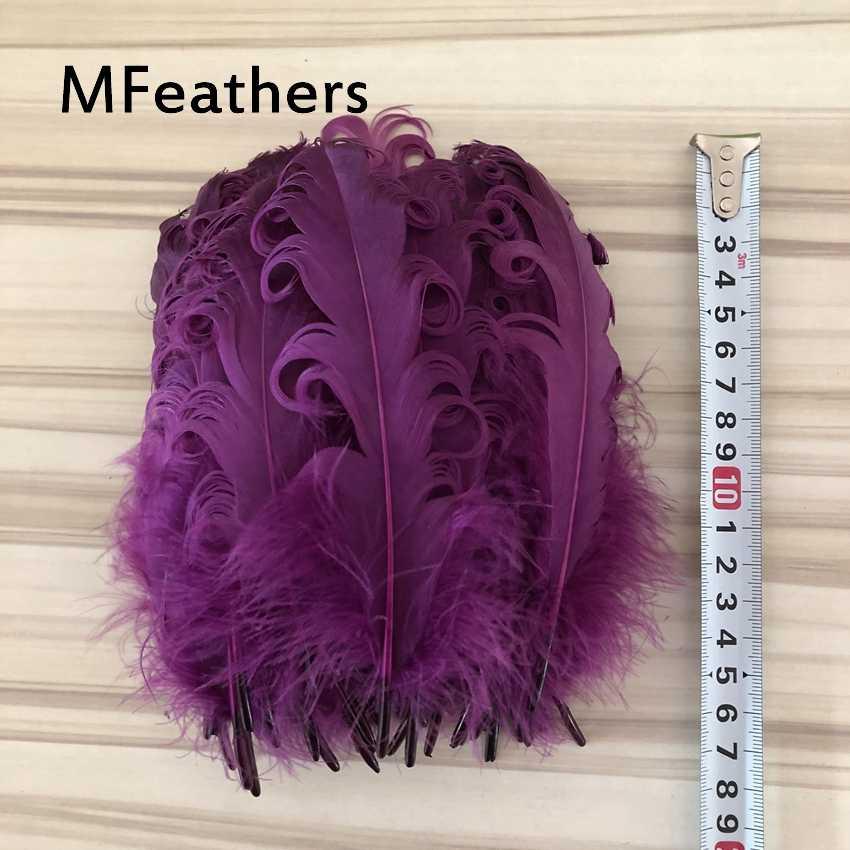 500 개/몫 공예 모자 embellishments에 대 한 자연 큰 자홍색 거 위 깃털 13-20cm 꽃꽂이 소재 액세서리
