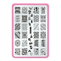 2016 nail stamping plates Nail Art Konad Polish Stamping Manicure Accessories Kit All New Designs Ethnic Wind Wave