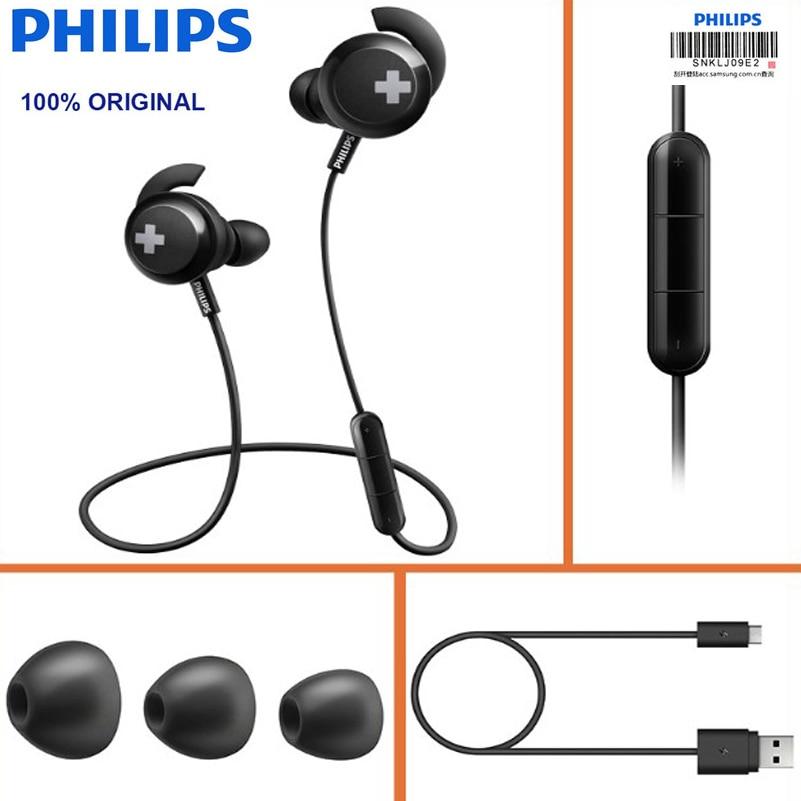 Original Philips Headset Shb4305 Bass Bluetooth 4 1 Wireless Neckband Headphones Noise Reduction Function With Microphone Bluetooth Earphones Headphones Aliexpress