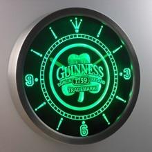 nc0108 Guinness 1759 Shamrock Bar Beer Neon Sign LED font b Wall b font font b