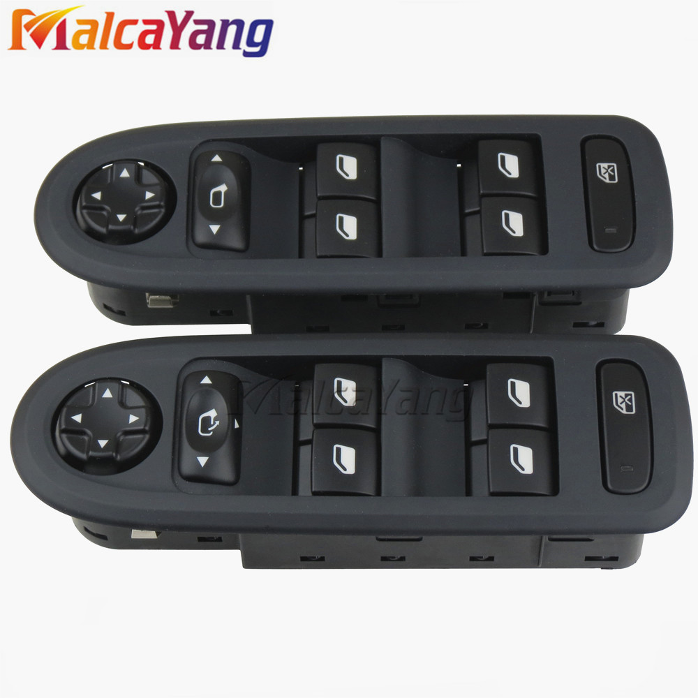 Power Window Lifter Master Control Switch 98060866ZE 96666289ZE For Peugeot 208 308 2008