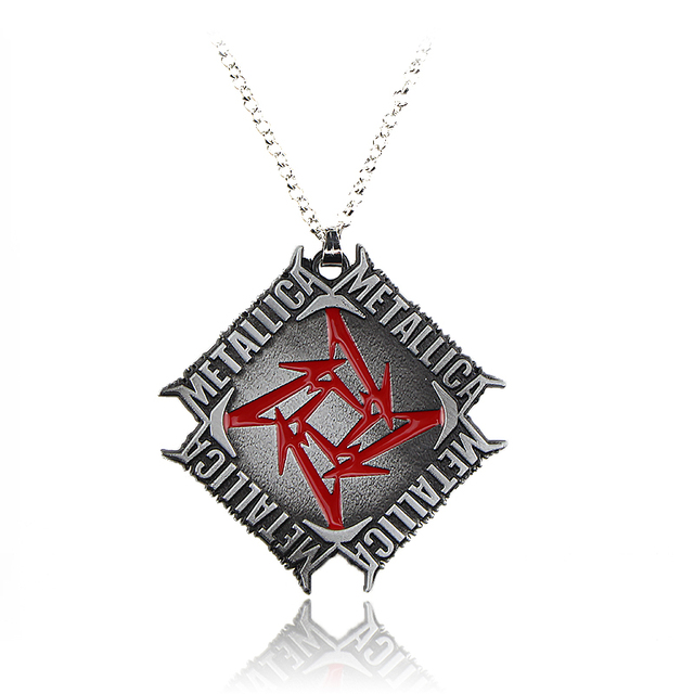 hot sell classic heavy metal metallica rock men necklace pendant necklace snake chain sports sweater necklace - Metallica Christmas Sweater