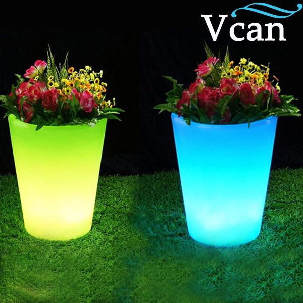 Здесь можно купить  Best Quality 2016 LED Light colours change rechargeable remote control Glow Flower Pot VC-F3040  Свет и освещение