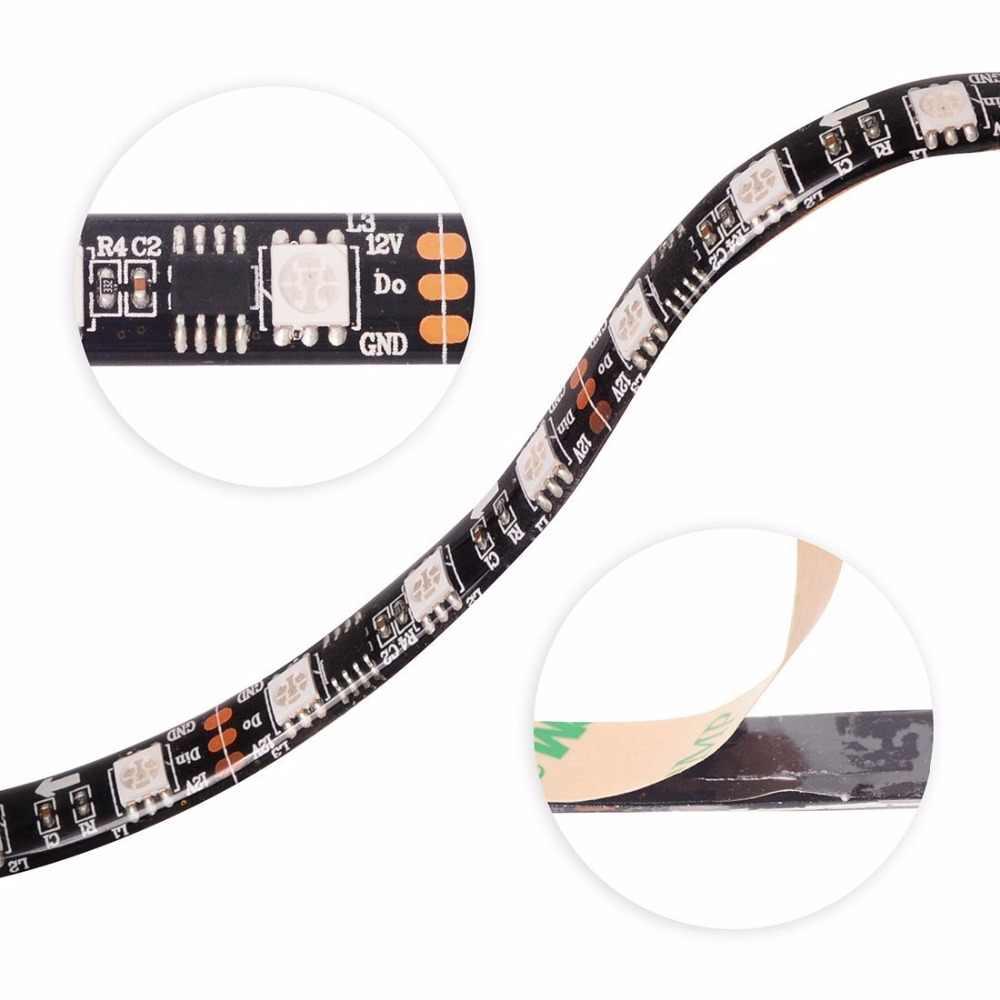 1 м 5 м WS2811 5050 SMD RGB светодиодные полосы света программируемый прибор приемно-30/60 светодиодов/m Led Пиксели внешний 1 ic control 3 светодиодов 12 V ленты лампы
