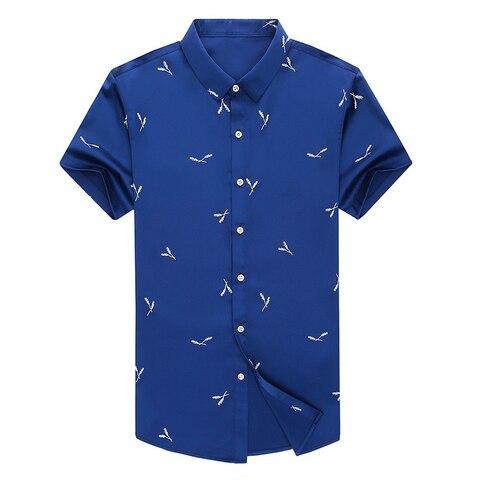 MIACAWOR Men Shirt Summer Short Sleeve Shirts Men Fashion Streetwear Print Shirts Male Casual Shirts Camisa Masculina C511 Islamabad