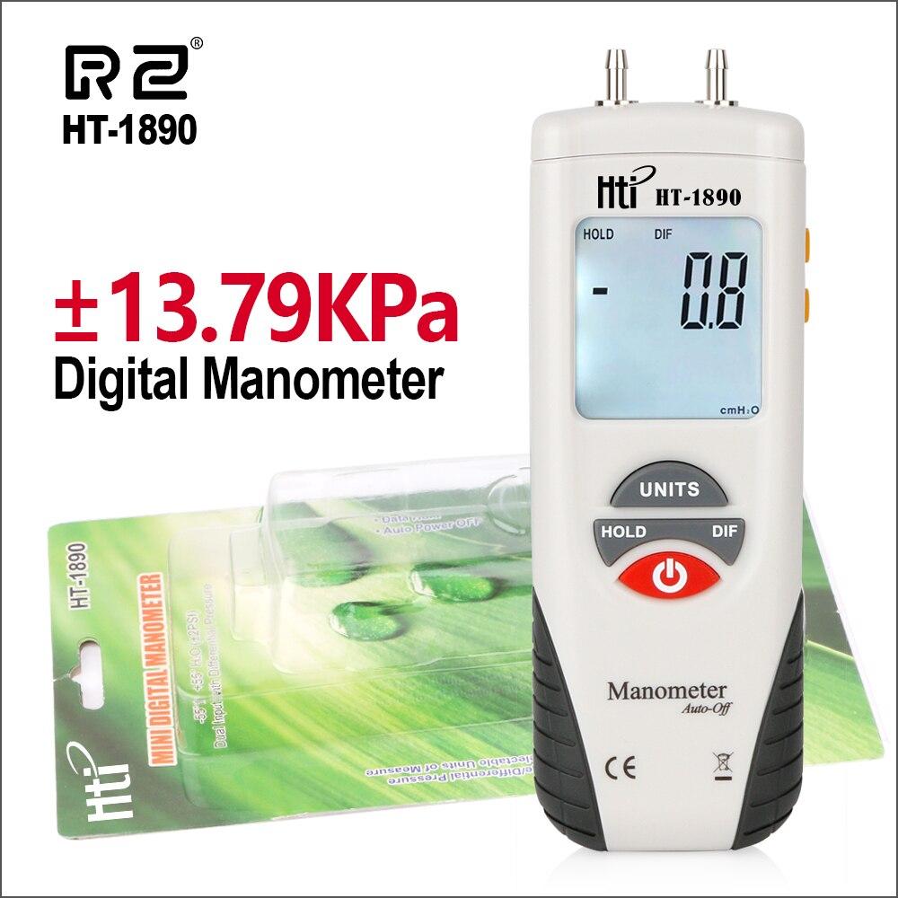 RZ Pressure Gauge Digital Manometer Air Pressure Meter Manometro Presion de Neumaticos 55H2O to +55H2O Portable Pressure GaugeRZ Pressure Gauge Digital Manometer Air Pressure Meter Manometro Presion de Neumaticos 55H2O to +55H2O Portable Pressure Gauge
