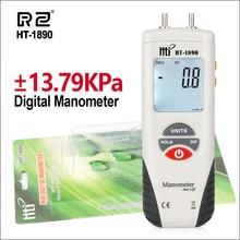RZ Pressure Gauge Digital Manometer Air Pressure Meter Manometro Presion de Neumaticos 55H2O to +55H2O Portable Pressure Gauge