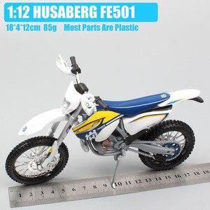 Image 2 - Maisto 1/12 2015 KTM אופנוע בקנה מידה HUSABERG FE 501 Husqvarna FE501 אופני עפר מוטוקרוס Diecast & כלי רכב מתכת רכב דגם צעצוע