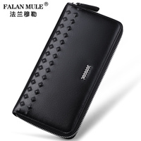 FALAN MULE Brand Fashion Men Wallets Genuine Leather Wallet Men Clutch Purse Credit Card Holder
