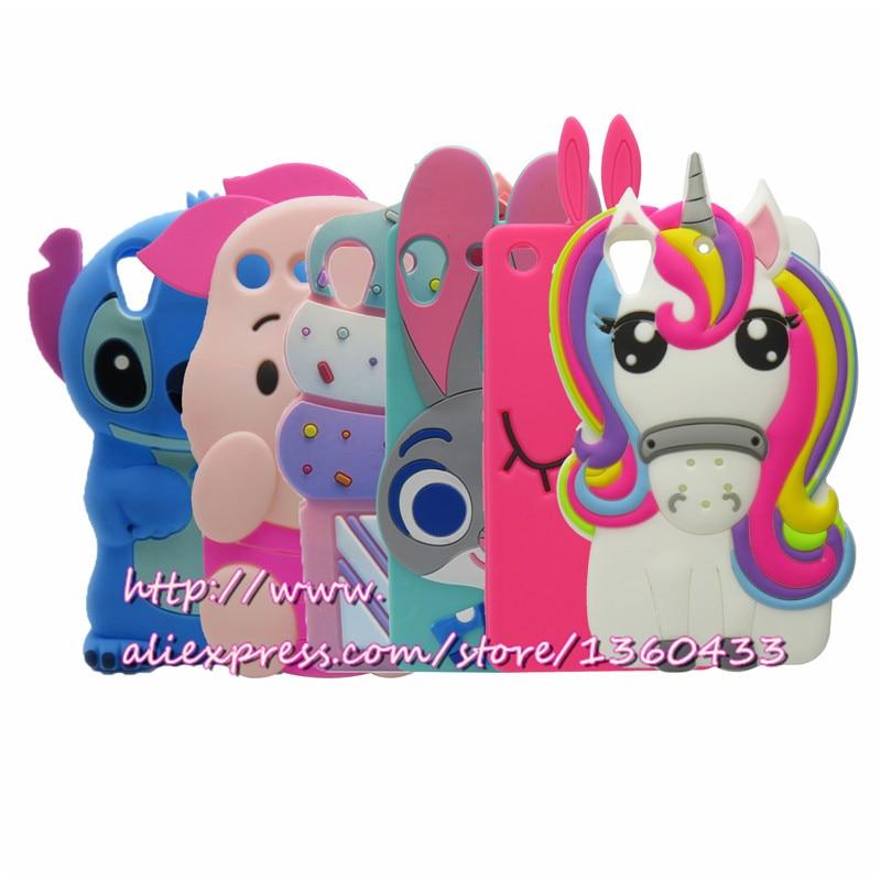 Galleria fotografica For Sony M5 3D Cute Cartoon Pig Stitch Unicorn Soft Silicone Mobile Phone Bags Cover Case For Sony Xperia M5 E5603 Dual E5633