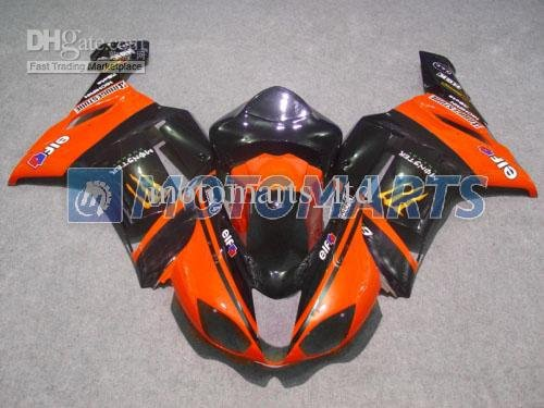 2 Gifts+orange EIF ABS fairing kit for Ninja ZX6R 0708 Ninja ZX 6R 07 08 ZX6R 2007 ZX6 R 2008 KE00
