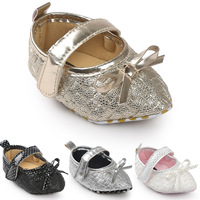 INS Hot Fashion Little Baby Shoes 2017 Pointed Toe Bows Girl Toddler Shoes Soft Sole Children's Crib Shoes First Walker 2232