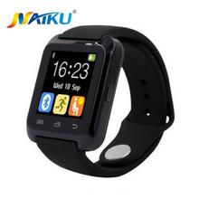 Smartwatch bluetooth smart watch u80 para iphone ios android teléfono inteligente llevar reloj usable dispositivo smartwach pk u8 gt08 dz09