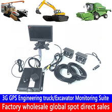 7-дюймовый монитора автомобиля+ 4 канала устройство записи на карты SD+ квадрат(водонепроницаемый) проекции камеры 3g GPS грузовик/Экскаватор диагностический комплект