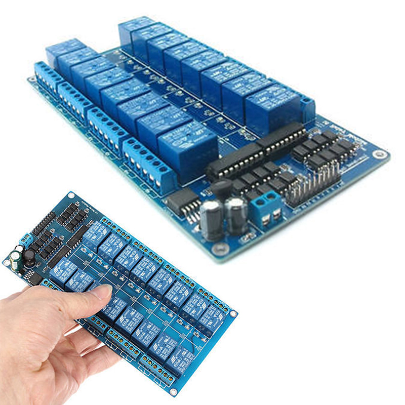 цена на 1pc New 16-Channel Relay Shield Module with Optocoupler 12V Fits For Arduino