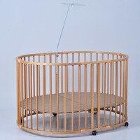 Европейский Большой овальный детская кровать, твердой древесины Multi Функция Детская безопасность игрушечный забор, ходунки, эллиптический