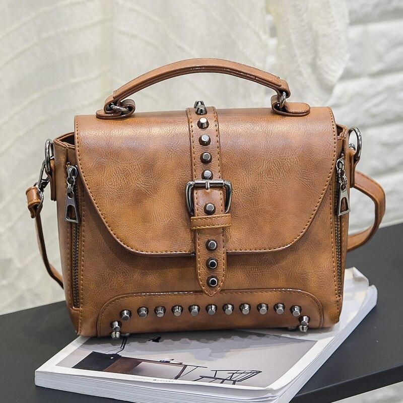 2019 Nuevas Mujeres Messenger Bags Vintage Bag Ladies Crossbody Bolsa - Bolsos - foto 4