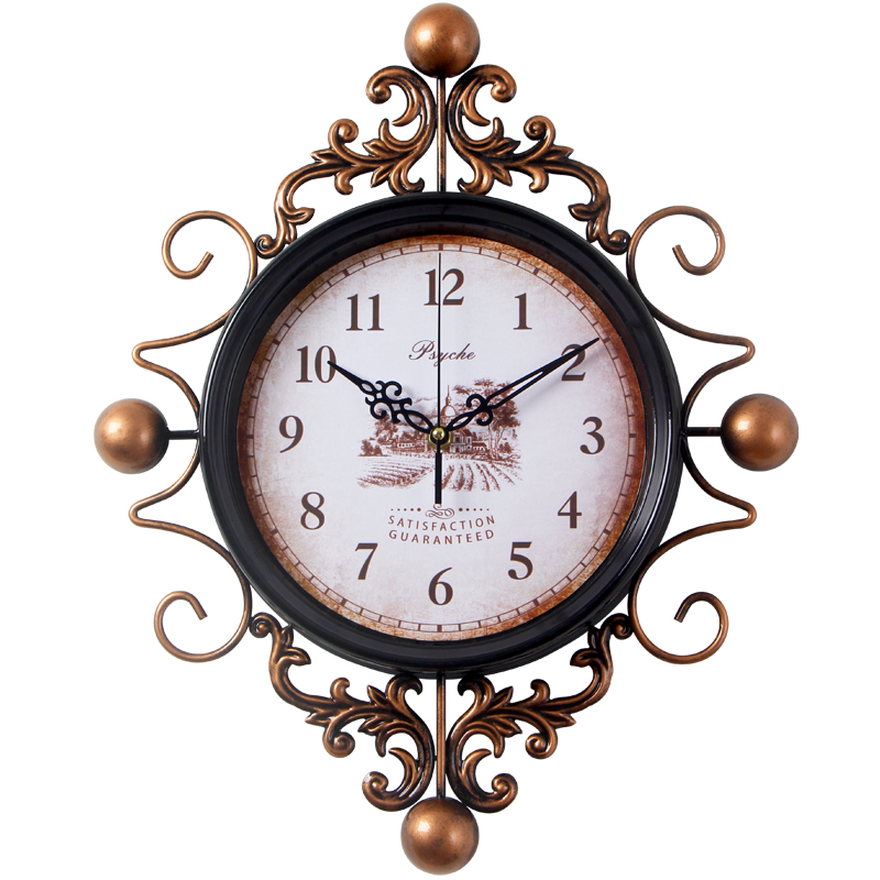 Aliexpress.com : Buy Large Retro Digital Metal Wall Clock Home Decor Iron  Wall Clock Antique Style Home Big Hanging Morden Design Watch Clock From  Reliable ...