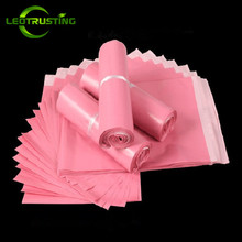 Leotrusting Light Pink Poly Mailing Adhesive Envelope Bags Shipping Packaging Bags Plastic Mailer Pink Wedding Gift Package Bags
