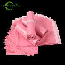 Светло розовые полиэтиленовые пакеты конверты leotrusting для