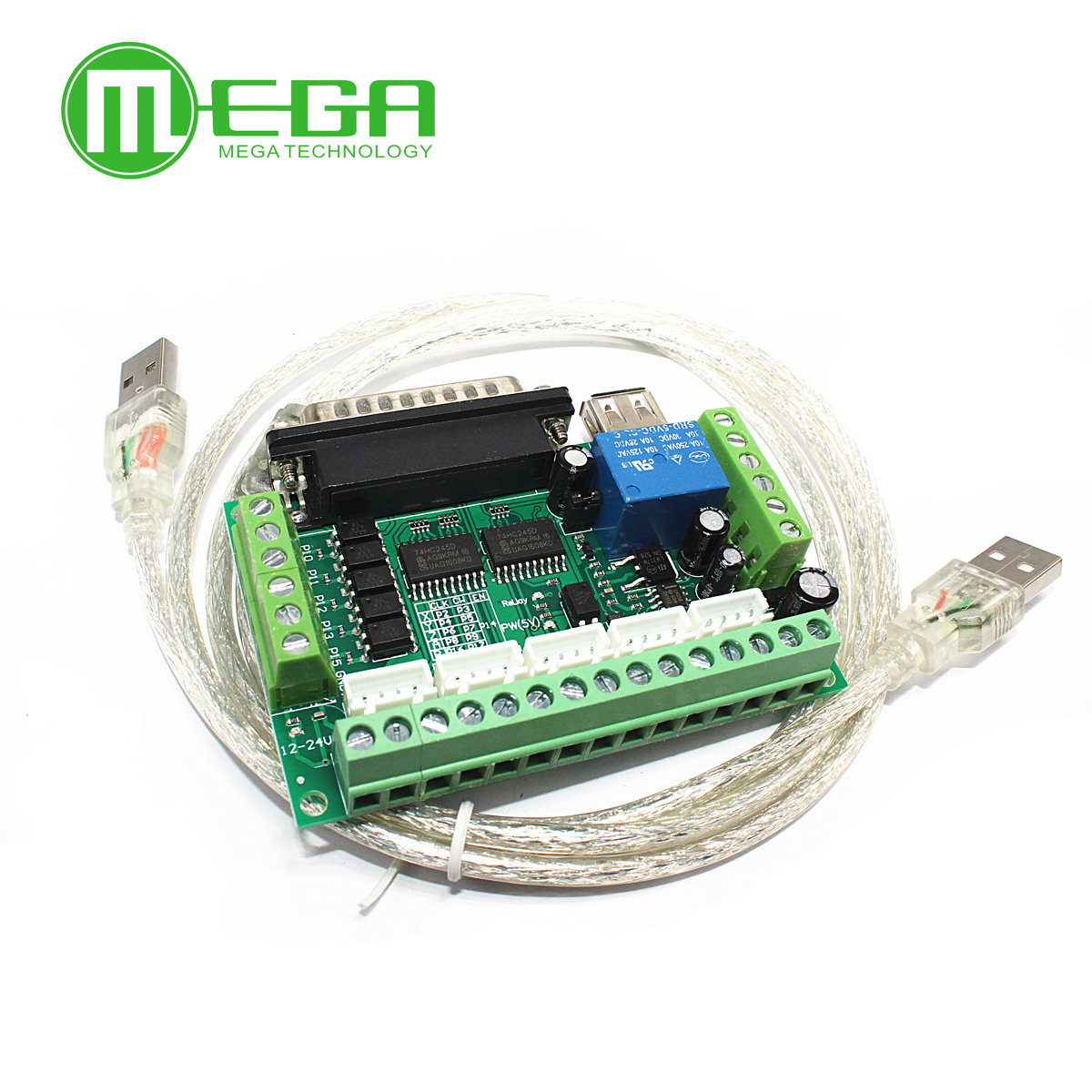 Upgraded 5 Axis CNC Interface Adapter Board For Stepper Motor Driver Mach3 +USB CableUpgraded 5 Axis CNC Interface Adapter Board For Stepper Motor Driver Mach3 +USB Cable