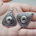 18mm Retail 2016 New Alloy Drop Earrings Jewelry DIY Snaps Fit 18mm Button boucle d'oreille