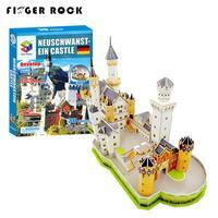 Finger Rock 3D Classic Architecture Swan Fort Paper Puzzles Assembled Neuschwanstein Castle Model Big Size Jigsaw