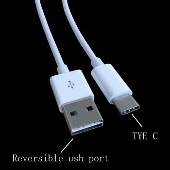 Biały 20cm dwustronny dwustronny kabel USB typu C do ładowania typu C telefony i tablety tanie i dobre opinie fleaver USB 3 1 Typu C Przechowywania telefonu Mp3 mp4 K-TCABLE09-20CM ROHS 20cm double sides usb type c data charge cable