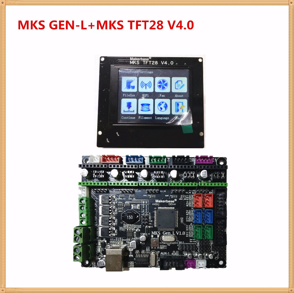 MKS GEN-L + MKS TFT28 color screen V4.0 minipanel touching display cheap 3D print school kits controller 3d printer starter unit mks tft28 v1 1 3d printer smart touch screen controller