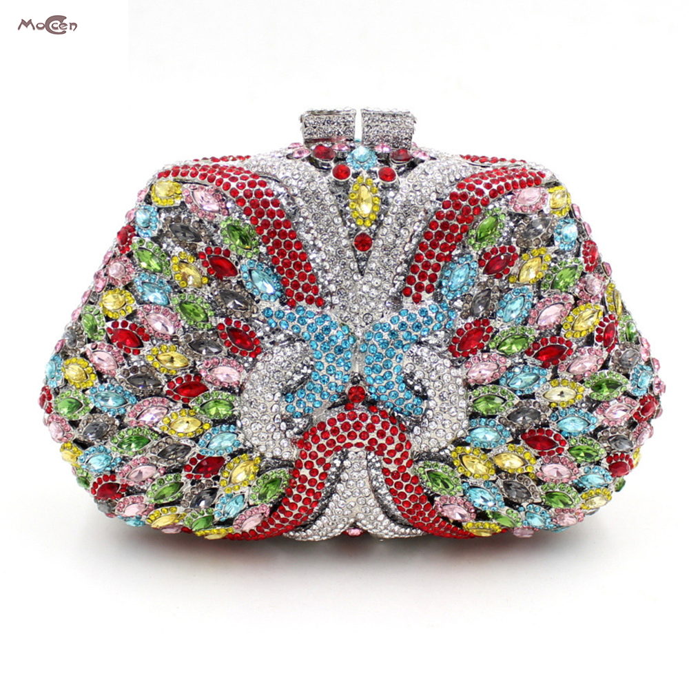 Moccen Evening Clutch Bags Handbags Women Famous Brands Evening Handbag Crystal Wallet Hasp Hand Bag European And American Style european and american style designer clutch bag famous brand women clutch rose diamondevening bag chain women messenger bags