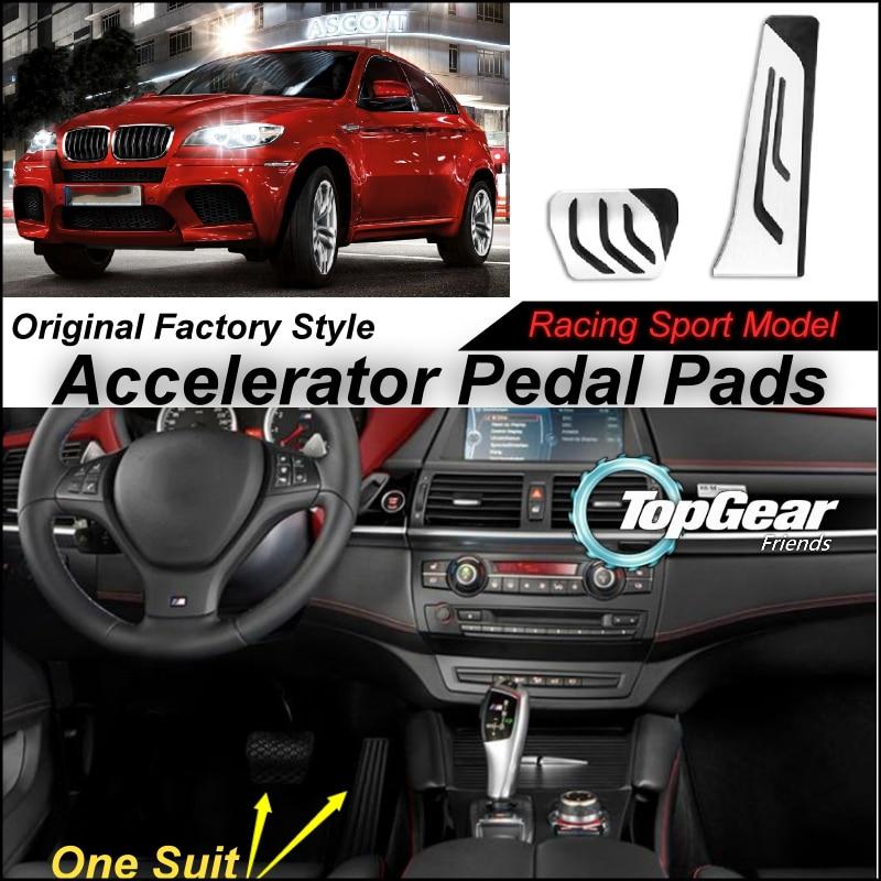 Coussin de pédale d'accélérateur de voiture Litanglee/couverture de conception de modèle de course de Sport d'usine originale pour BMW X6 E71 2009 ~ 2015 Tuning