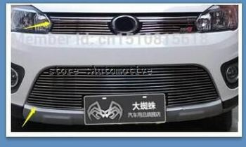 2012-2014 for Great Wall Hover M4 TOP Quality Stainless steel Car front bumper Mesh Grille Around Trim Racing Grills