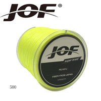 JOF 8 Strands 500m 8 Colors PE Big Horsepower Braided Fishing Line 8Weaves Strong Braided Wire