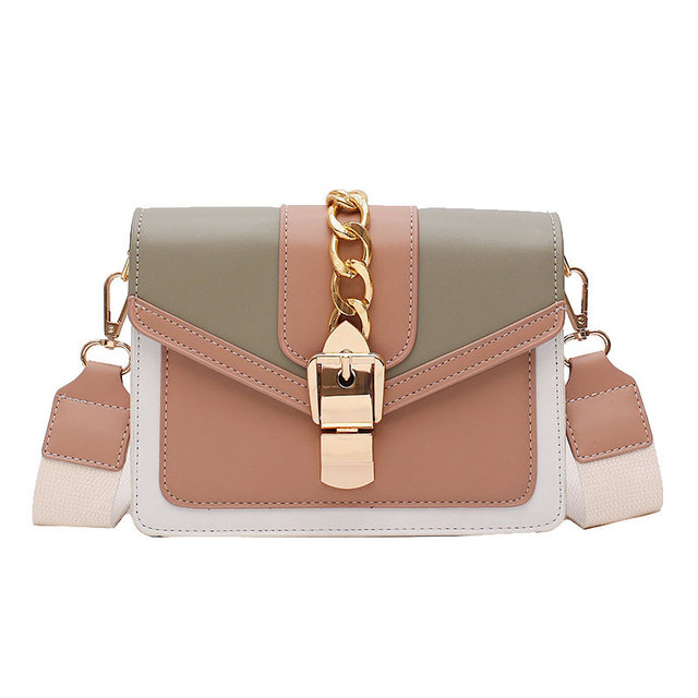 Contrast Color Leather Crossbody Bags  5