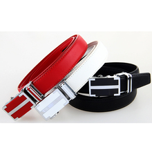 Hot Sale!! Feminine Leather Belt White Black Red Cowhide