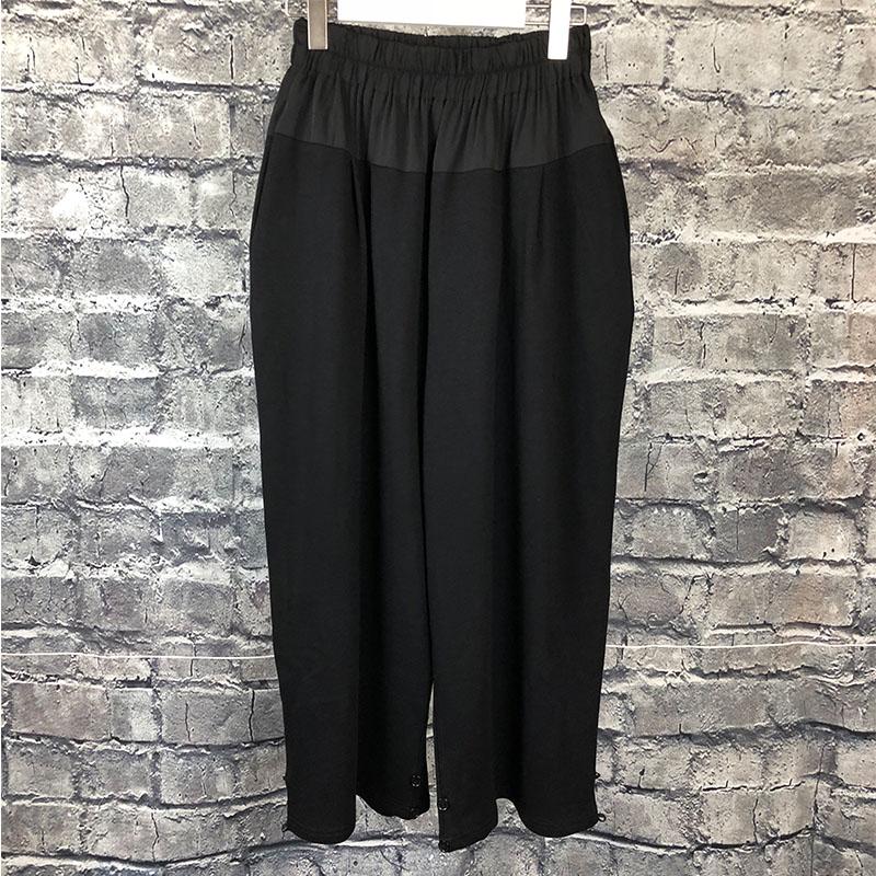 Pies Personalidad Sueltos Otoño Hombres 2019 La Puro Original Pantalones De Empalme Diseño Pierna Black Haren Nuevo Negro Moda Ancha vw04Fvq