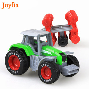 Image 4 - 4 Types Boys Farm Truck Toy Vehicles Engineering Truck Car Models Tractor Trailer Toys Model Car Toy Collectible Car For Kids#