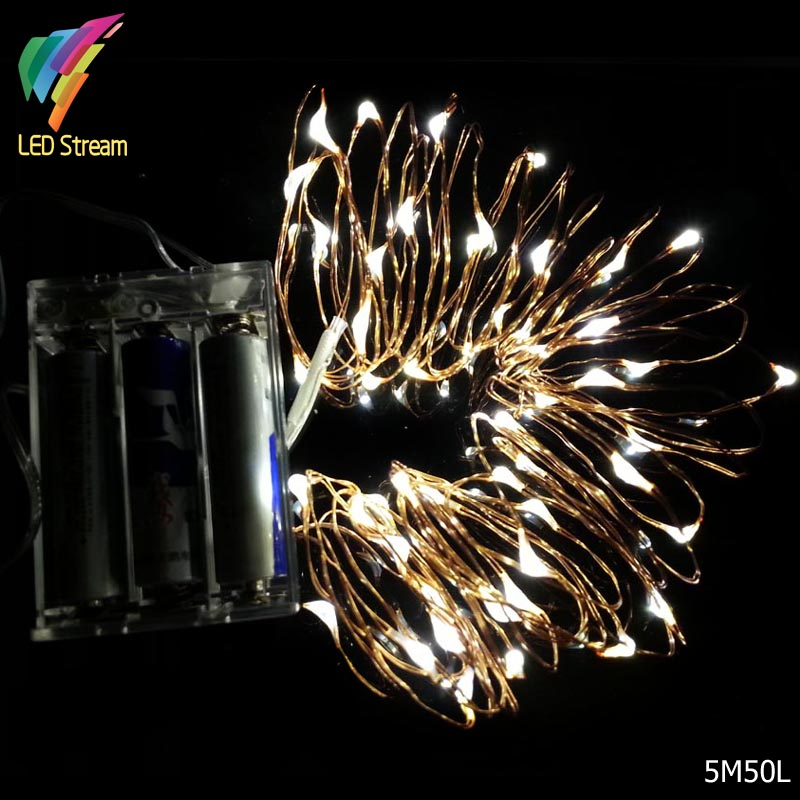 Mini String Lights On Wire : Aliexpress.com : Buy Battery Operated 5M 50leds Mini LED Decorative Copper Wire Fairy String ...