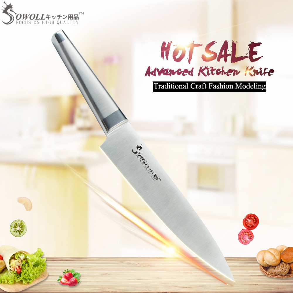 US $8.36 71% OFF|SOWOLL Brand 8 inch Best Professional Chef Knife Stainless  Steel Knife Kitchen Knife For Cooking High Grade Kitchen Accessories-in ...