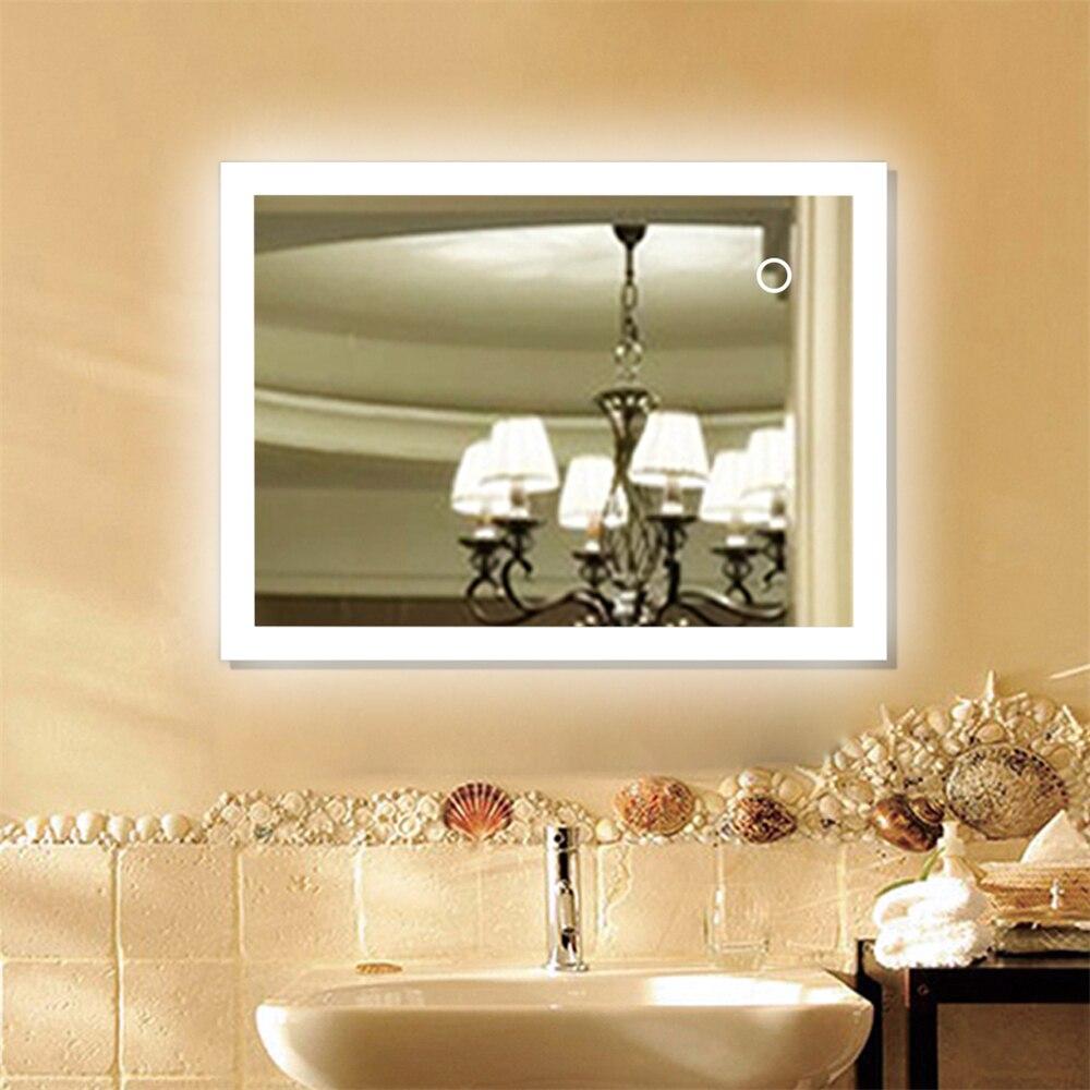 Anti Fog Bathroom Mirror Led Light Up Make Up Mirror Touchable Cosmetic Mercury Frameless Mirror For Lady Women Beauty Hwc Bath Mirrors Aliexpress