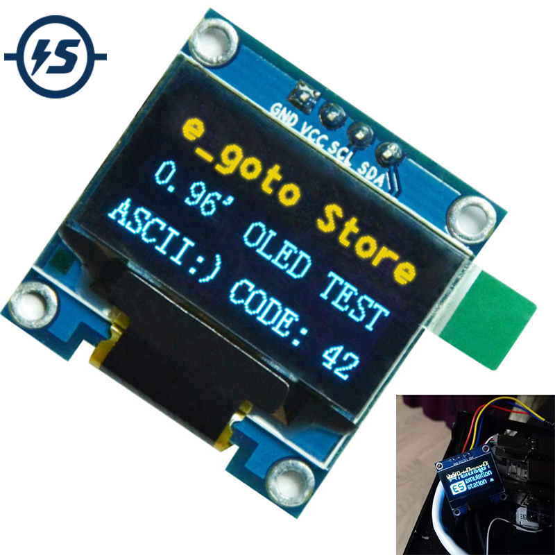 0.96 Inch IIC Serial OLED Display Module 128X64 I2C SSD1306 12864 STM32 STM32 LCD Screen Board GND VCC SCL SDA 0.96