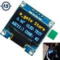 0.96 inch IIC Serial OLED Display Module 128X64 I2C SSD1306 12864 STM32 STM32 LCD Screen Board GND VCC SCL SDA 0.96 For Arduino