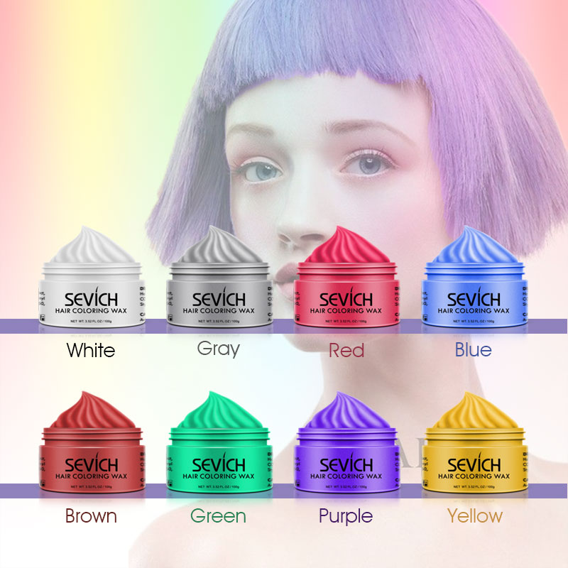Sevich hair color wax hair dye permanent hair colors cream unisex strong hold grandma grey disposable pastel dynamic hairstyles  5
