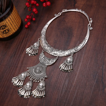 necklaces & pendants exaggeration Miao silver dance accessories Original manual Retro Big collar Ethnic Classic