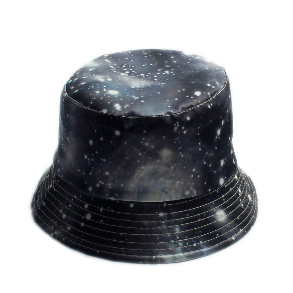 8d015378ecf 18 Color Summer Fantasy Galaxy Star Bucket Hats for Men Panama Women Fishing  Hat Outdoor Sun