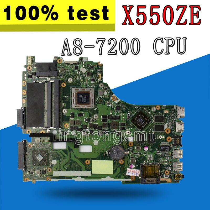 Здесь можно купить  X550ZE motherboard A8-7200 LVDS interface For ASUS VM590Z X550ZE K555Z A555Z X555Z K550Z laptop motherboard X550ZE mainboard  Компьютер & сеть