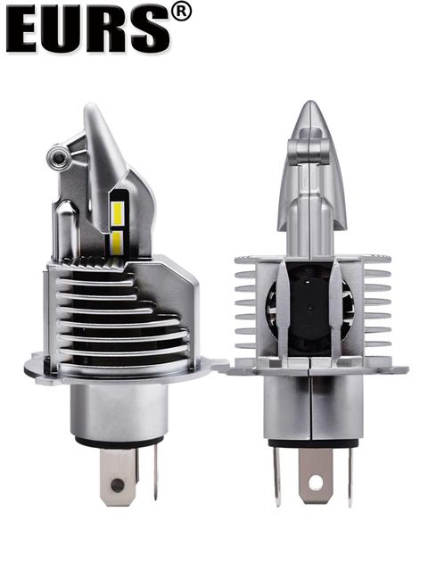 Eurs Fighter Foco H4 Led Bulbs Car/motorcycle Headlight 72W 12V 24V 6000K Super Led H4 Car headlight Bulbs lampada Led H4 8000LM