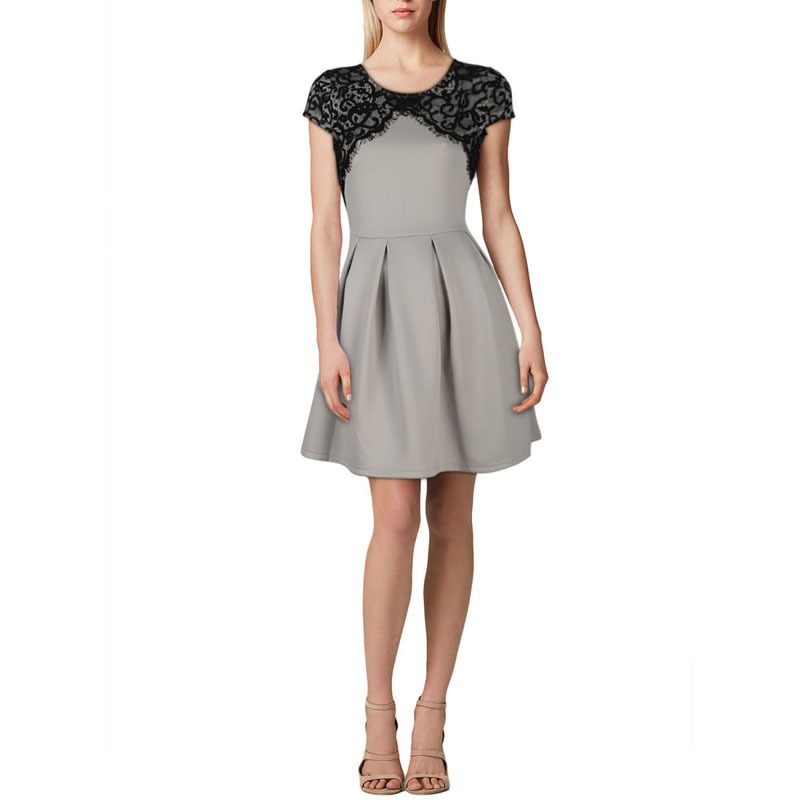 New Elegant Vestidos Women Show Slim Casual Dress Ladies Fashion Floral  Lace OL Office Cocktail Party Summer Sexy A Line Dresses-in Dresses from  Women s ... 65f7e2d1f712